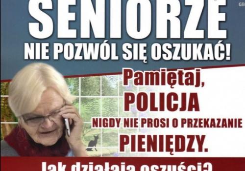 Spotkanie dla seniorów - Bezpieczeństwo osób starszych