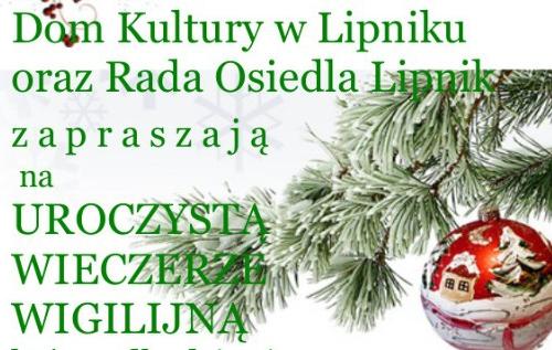 Uroczysta Wieczerza Wigilijna w Lipniku