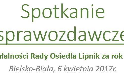 Sprawozdanie z działalności RO Lipnik za rok 2016
